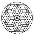 modern hexagonal panel used for decorative vector image vector image