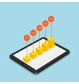 modern mobile marketing background vector image vector image