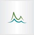 mountain and lake water simple logo icon vector image vector image
