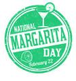 national margarita day grunge rubber stamp vector image vector image