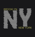 new york typography graphics vector image vector image