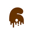 number 3 chocolate font sweetness numeral three vector image vector image