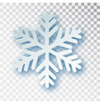 paper cut snowflake with shadow isolated vector image