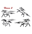 Powerful and freedom stallions vector image vector image