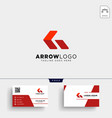 red arrow logo template and business card vector image