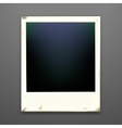 Retro photo frame on dark background vector image