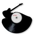 rock music silhouette record vector image vector image
