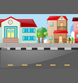 scene with buildings and street vector image vector image