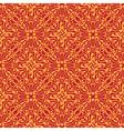Seamless orange floral wallpaper vector image vector image
