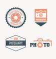 set modern logo photo studio camera vector image