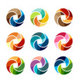 set of isolated colorful logo template of a vector image