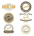 Set of logo label emblem or logotype for drone vector image