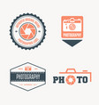 set of modern logo photo studio camera vector image