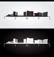tempe arizona skyline and landmarks silhouette vector image vector image