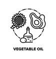 vegetable oil concept black vector image vector image