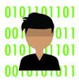 virus computer background vector image vector image