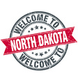 welcome to North Dakota red round vintage stamp vector image vector image