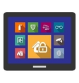 Flat safety and security icons vector image