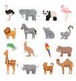 set of animals of zoo vector image