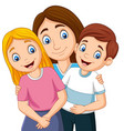 a mother with son and daughter vector image