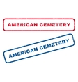 American Cemetery Rubber Stamps vector image vector image