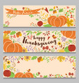 autumn banners set horizontal three templates in vector image