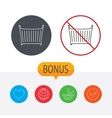 Baby crib bed icon Cradle or cot sign vector image vector image