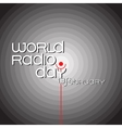 Banner for World radio day on grey background vector image