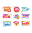 best offer emblems set for advertisement vector image vector image