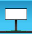 billboard clear mockup outdoor vector image
