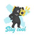 black bear design for t-shirt vector image vector image