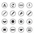 black flat business and office icon set vector image vector image