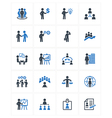 Business Management Icons - Blue Series vector image