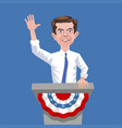 caricature presidential candidate pete buttigieg vector image