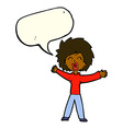 cartoon woman shouting with speech bubble vector image vector image