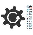 Cogwheel Rotation Direction Icon With Free Bonus vector image vector image
