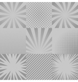 Comic backgrounds set vector image vector image