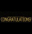 congratulations banner template vector image vector image