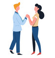 couple holding hands man and woman love isolated vector image vector image