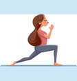 cute girl in yoga pose vector image vector image