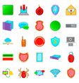 cybercriminal icons set cartoon style vector image vector image