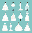 different styles brides dresses vector image vector image