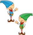Elf Mascot Presenting vector image vector image