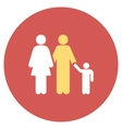 Family Flat Round Icon vector image vector image