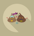 flat modern design with shadow icons turd faeces vector image vector image