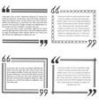 Four quote bubble template vector image