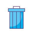 garbage pot isolated icon vector image vector image
