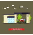Gas station concept banners vector image