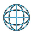 global sphere icon vector image vector image