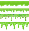 green slime halloween seamless pattern 3d set vector image vector image